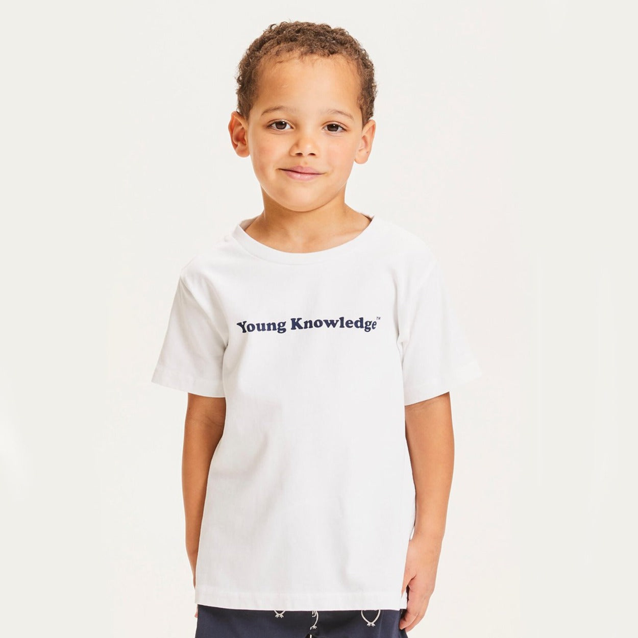 Knowledge Cotton flax young knowledge tee, bright white