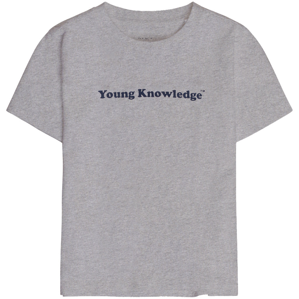 Knowledge Cotton flax young knowledge tee, grey melange