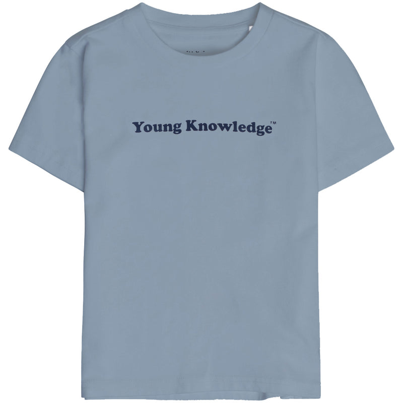 Knowledge Cotton flax young knowledge tee, ashley blue