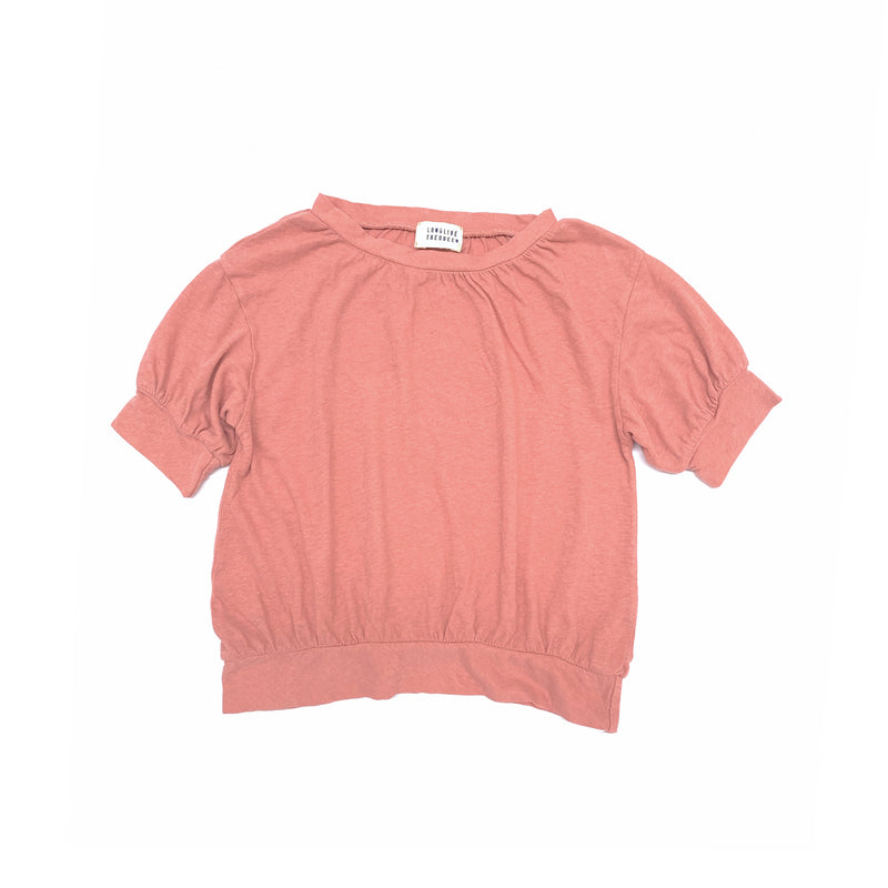 Long Live The Queen puff tee, old rose