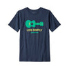 Patagonia boys' graphic guitar tee, new navy