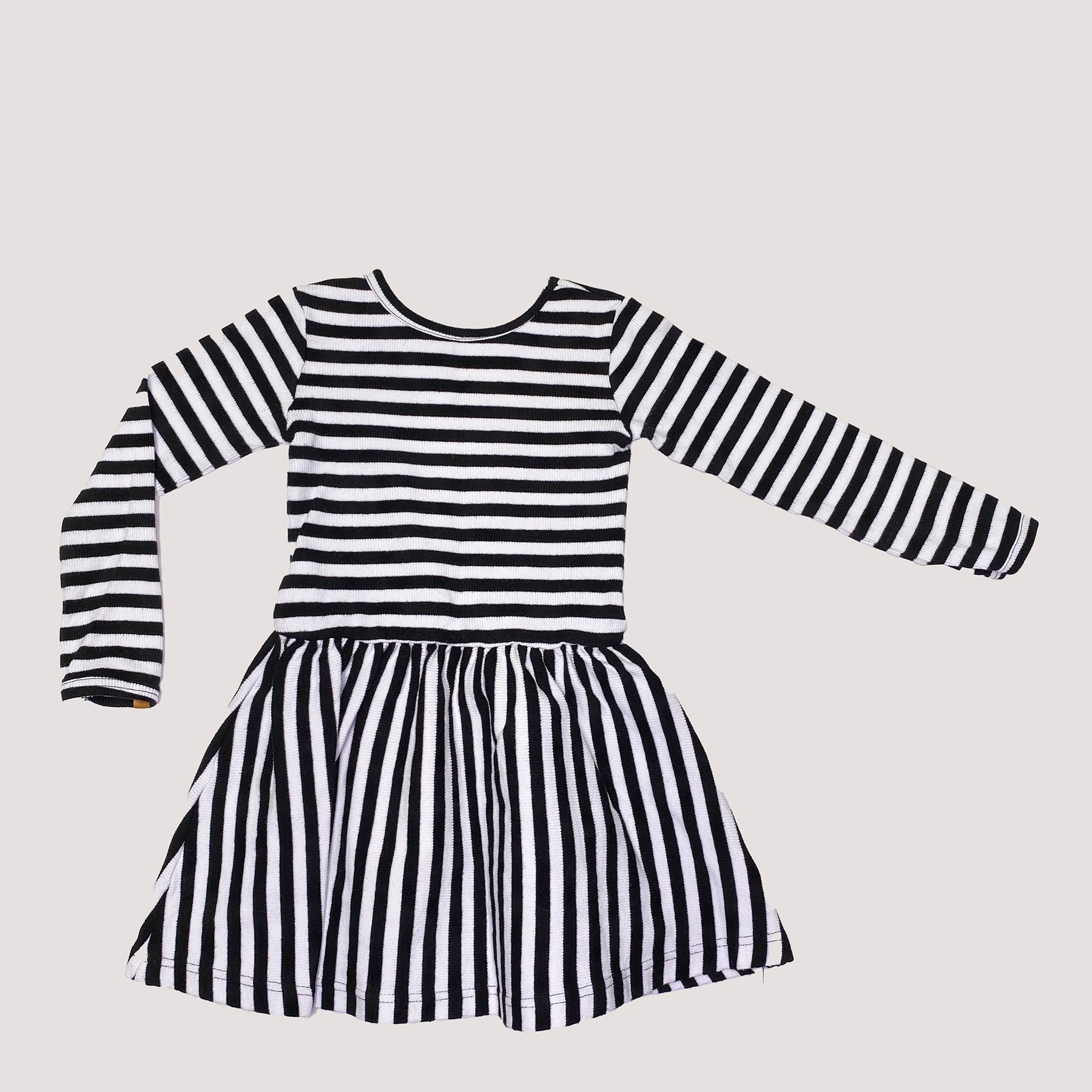 Re-wear : Metsola rib mekko, stripe/black | 86/92cm