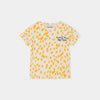 Bobo Choses animal print baby tee, turtledove