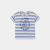 Bobo Choses shall you dance striped baby tee, blue striped