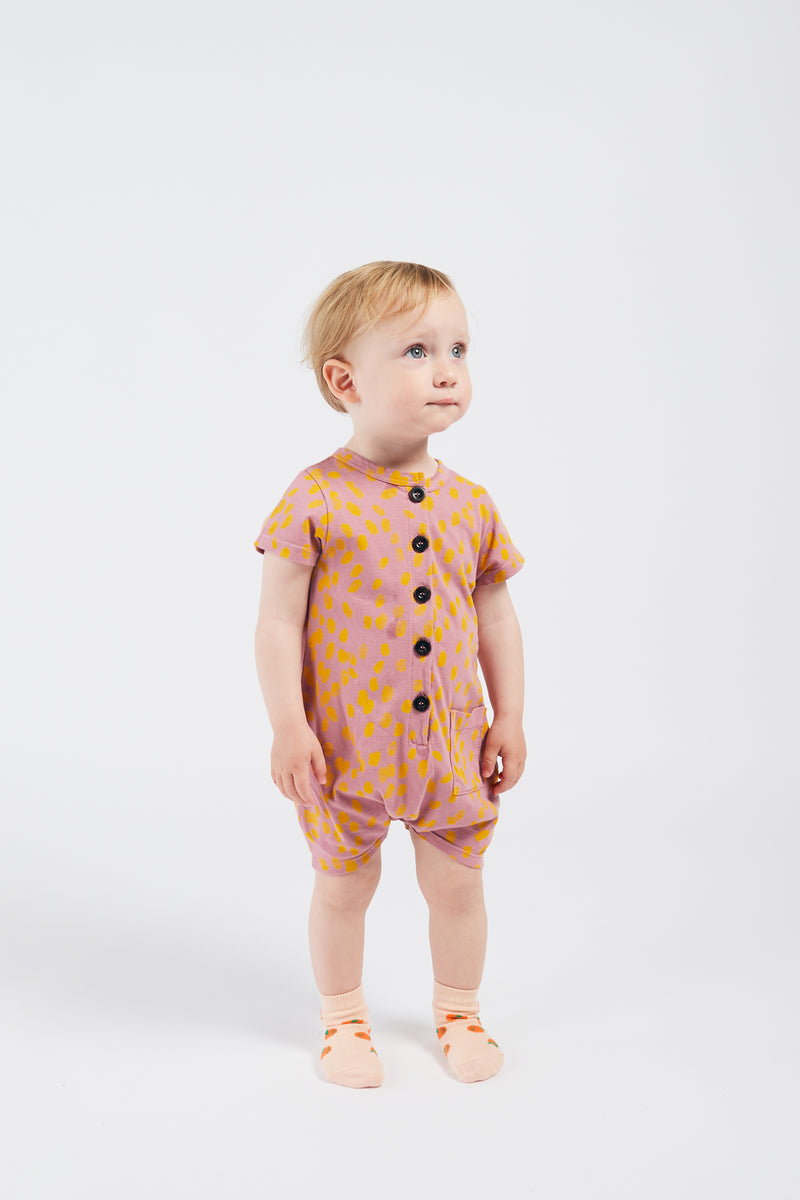 Bobo Choses animal print puku, heather rose