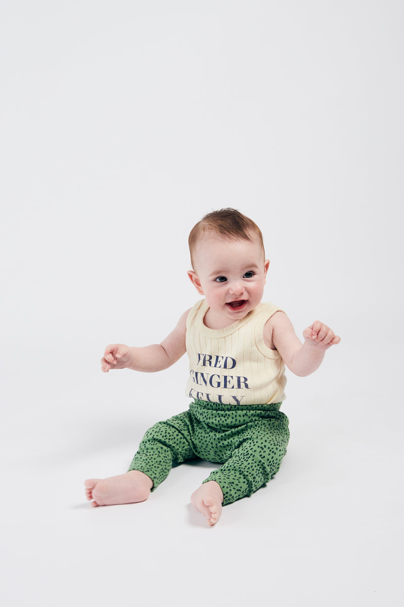 Bobo Choses all over leopard green baby leggarit, aspen green