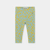 Bobo Choses animal print baby leggarit, frosty green
