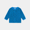 Bobo Choses all over leopard buttoned baby svetari, azure blue
