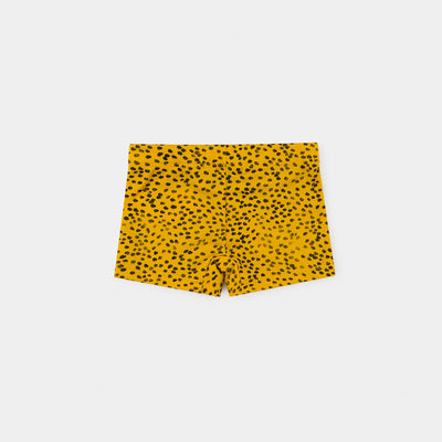 Bobo Choses all over leopard print baby uimahousut, spectra yellow