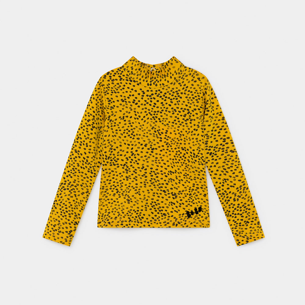 Bobo Choses all over leopard print baby uimapaita, spectra yellow