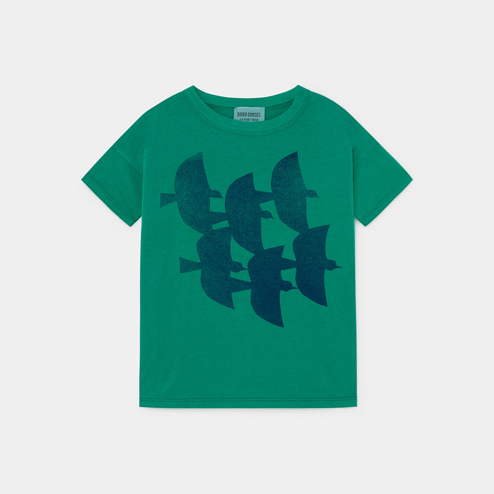 Bobo Choses flying birds tee, cadmium green