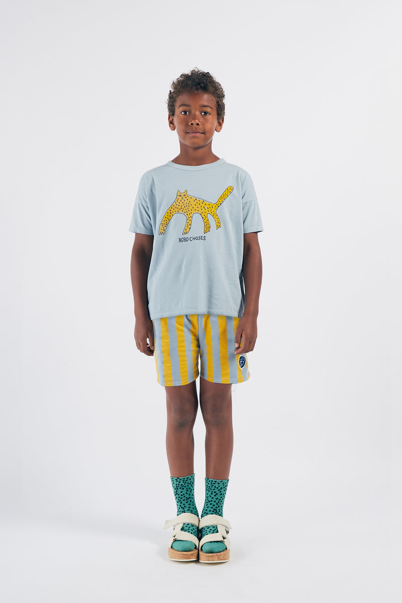 Bobo Choses leopard tee, blue fog