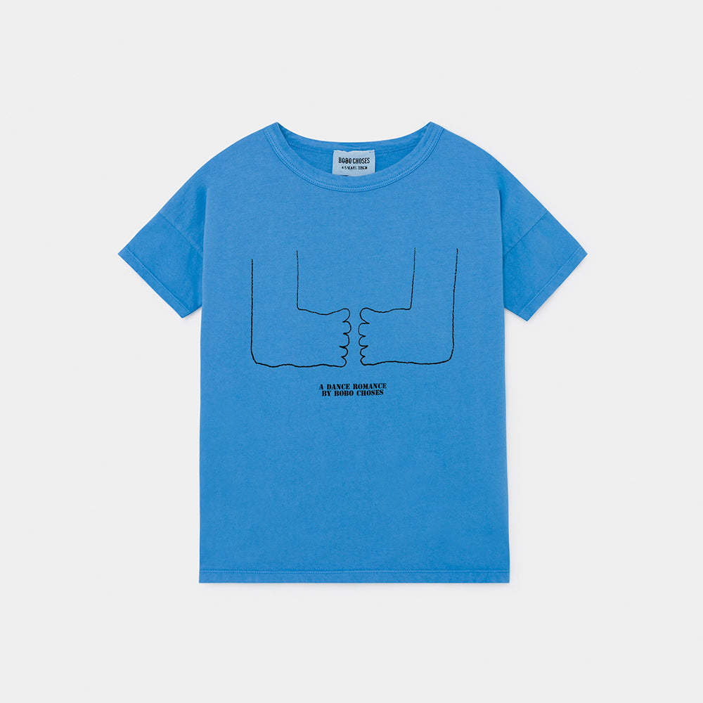 Bobo Choses feet tee, azure blue