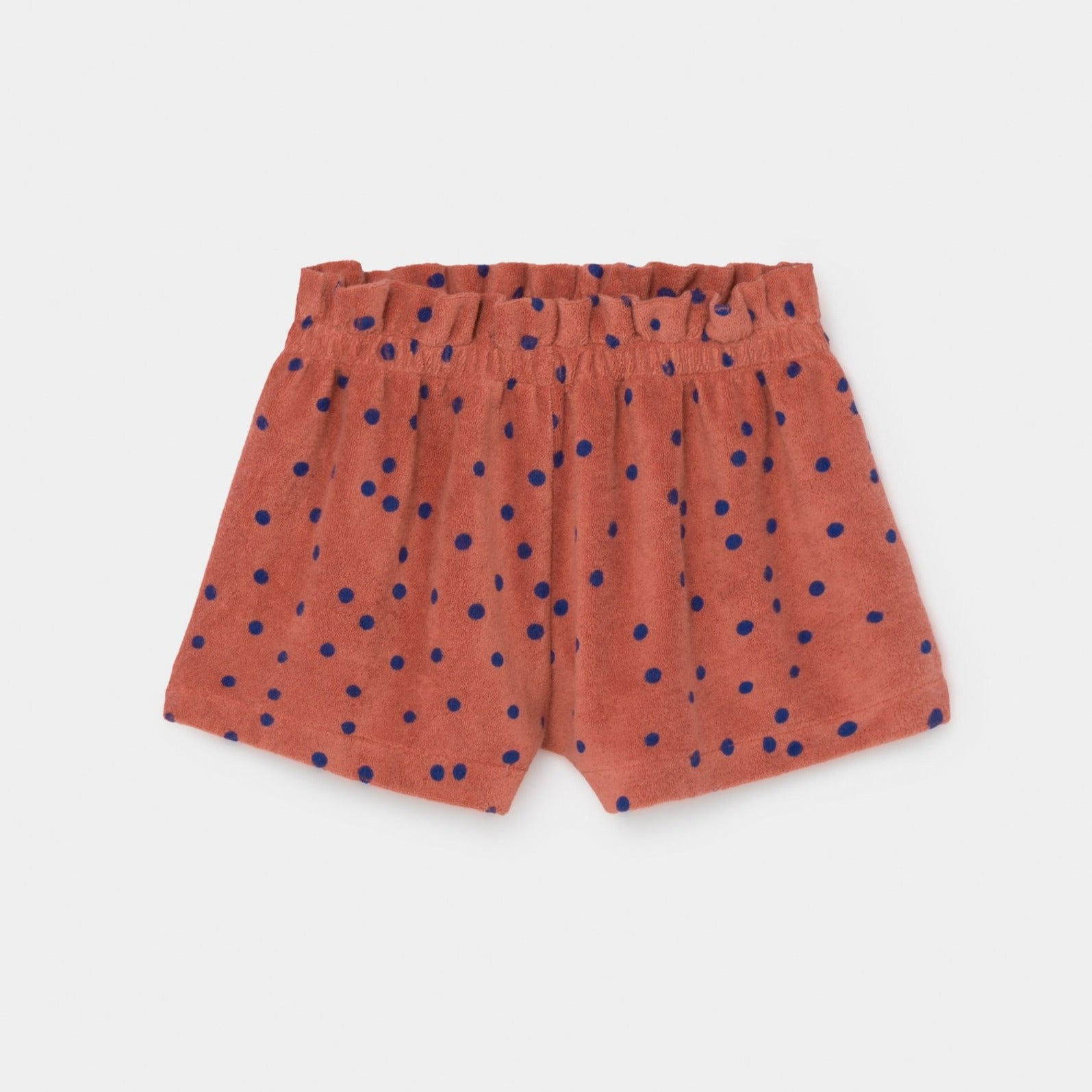 Bobo Choses dots terry towel shortsit, autumn leaf