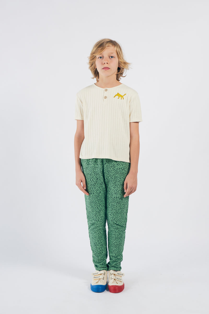 Bobo Choses all over leopard jogging housut, aspen green