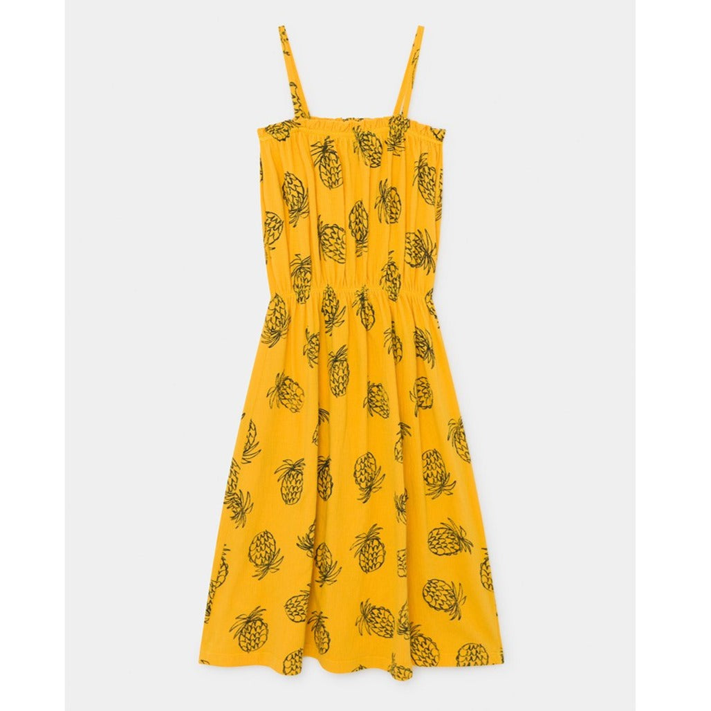 Bobo Choses all over pineapple jersey mekko, spectra yellow