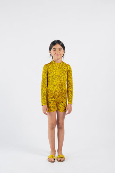 Bobo Choses all over leopard uimapuku, spectra yellow