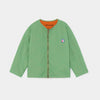 Bobo Choses reversible a embroidery quilted takki, aspen green