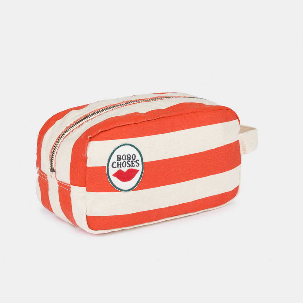 Bobo Choses red stripes pouch kassi, turtledove