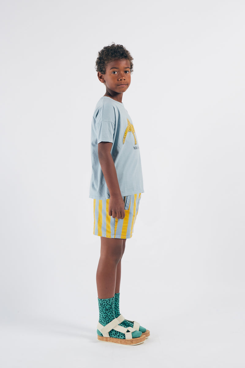 Bobo Choses all over leopard short sukat, cadmium green