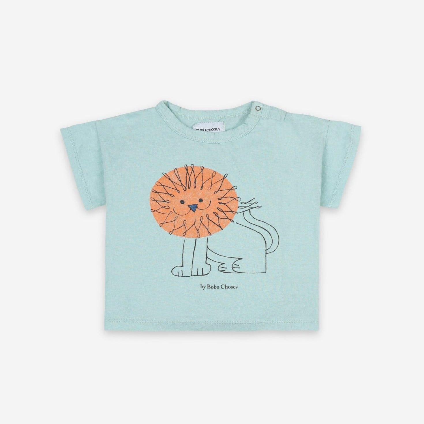 Bobo Choses pet a lion baby tee, gossamer green