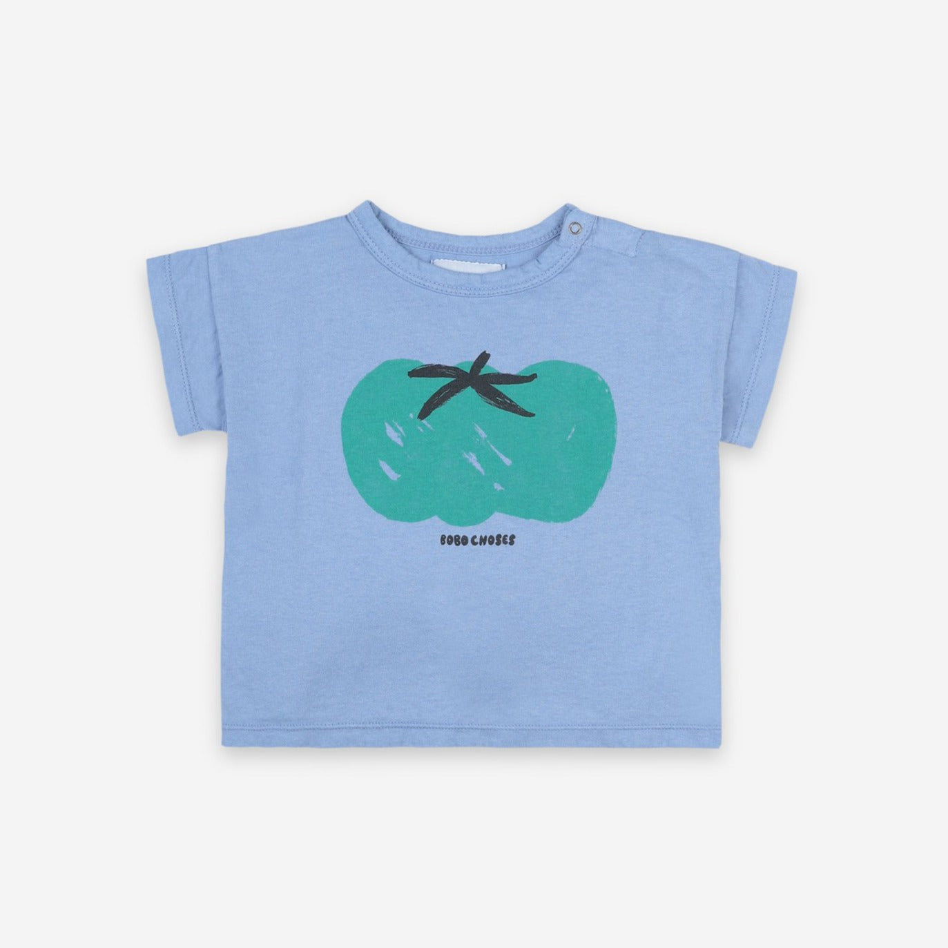 Bobo Choses tomato baby tee, powder blue