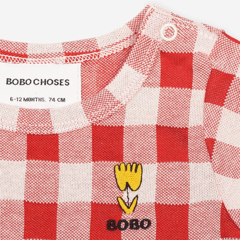 Bobo Choses vichy ss body, dusty pink