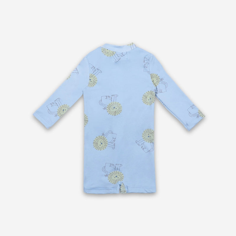 Bobo Choses pet a lion aop baby uimapuku, powder blue