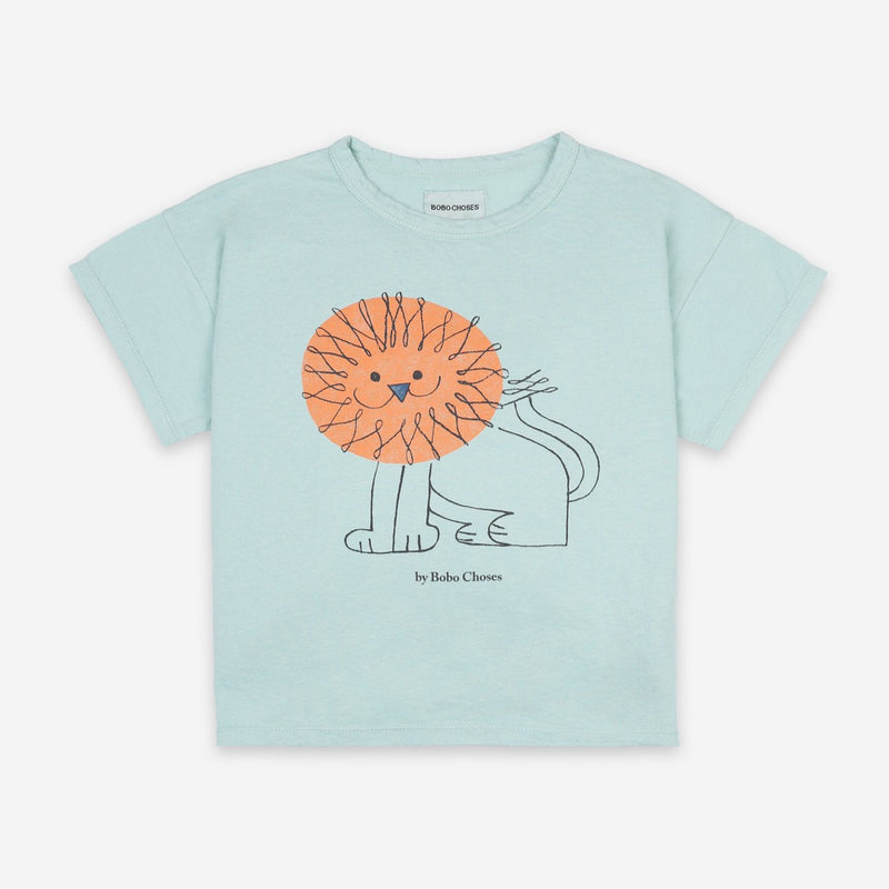 Bobo Choses pet a lion tee, gossamer green