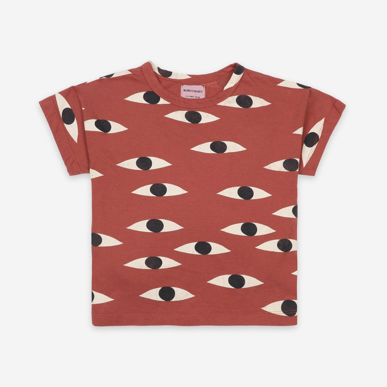 Bobo Choses eyes aop tee, coconut shell