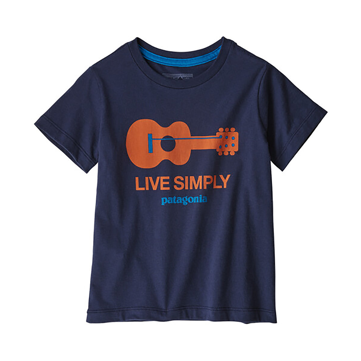 Patagonia baby live simply guitar tee, new navy