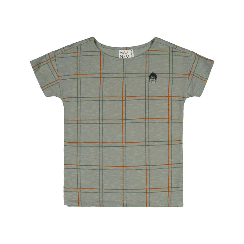 Mainio check tee, seagrass