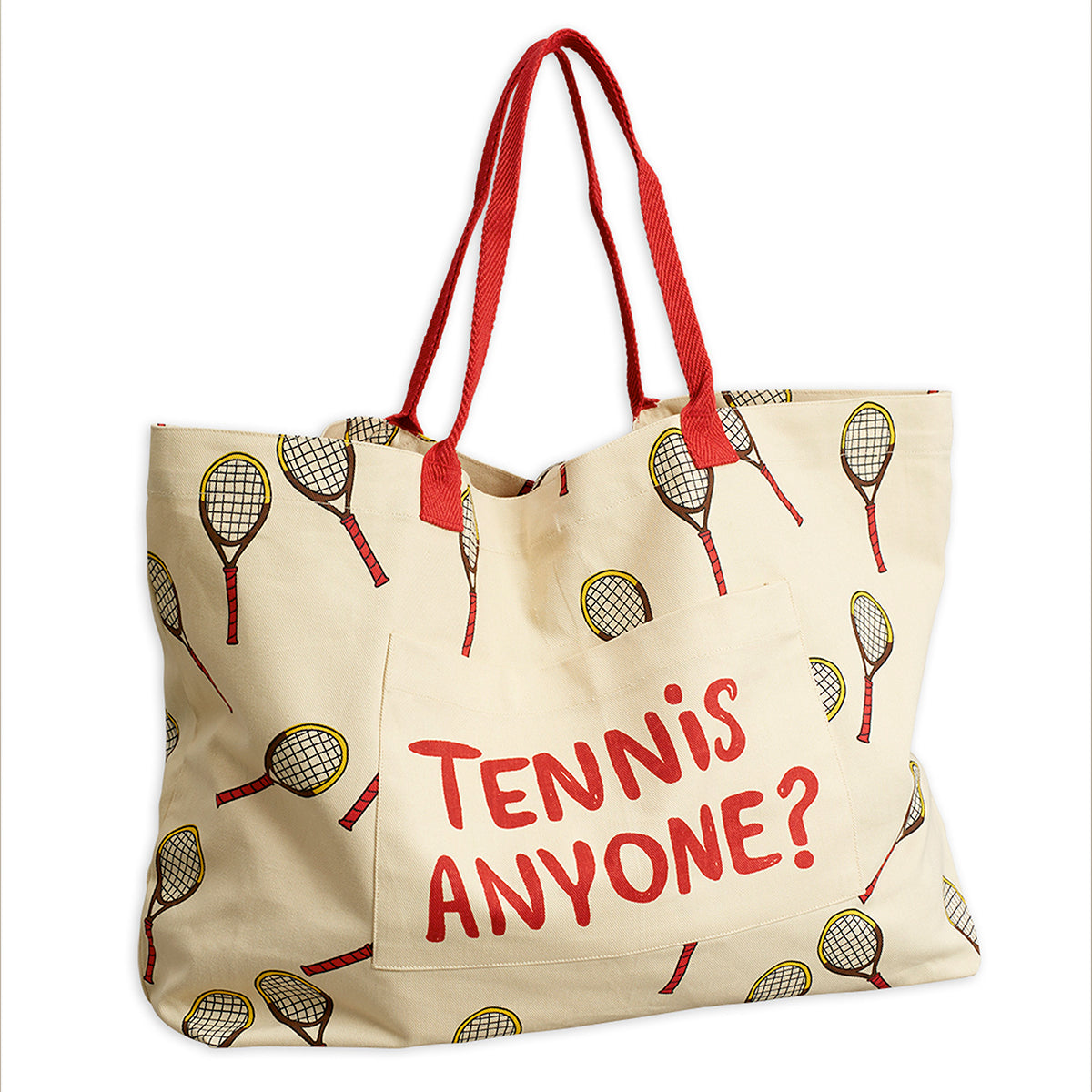 Mini Rodini iso tennis kassi, off white