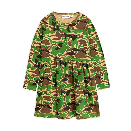 Mini Rodini camo mekko, green