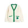 Mini Rodini tennis cardigan neule, white