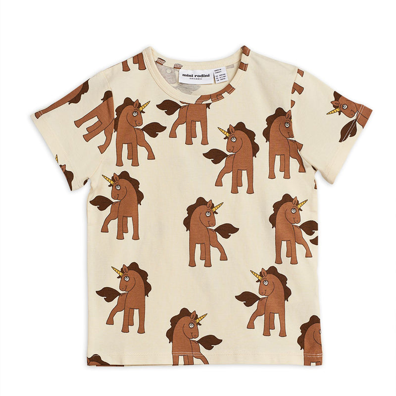 Mini Rodini unicorns tee, off white