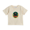 Mini Rodini panther badge tee, off white