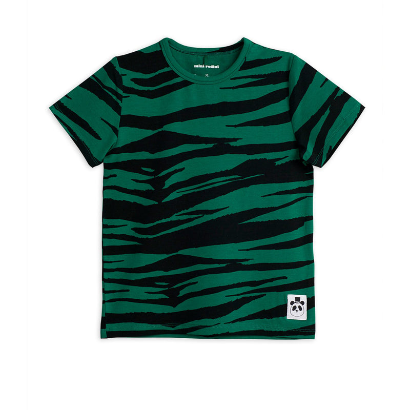 Mini Rodini tiger tee, green