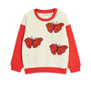 Mini Rodini butterflies svetari, red