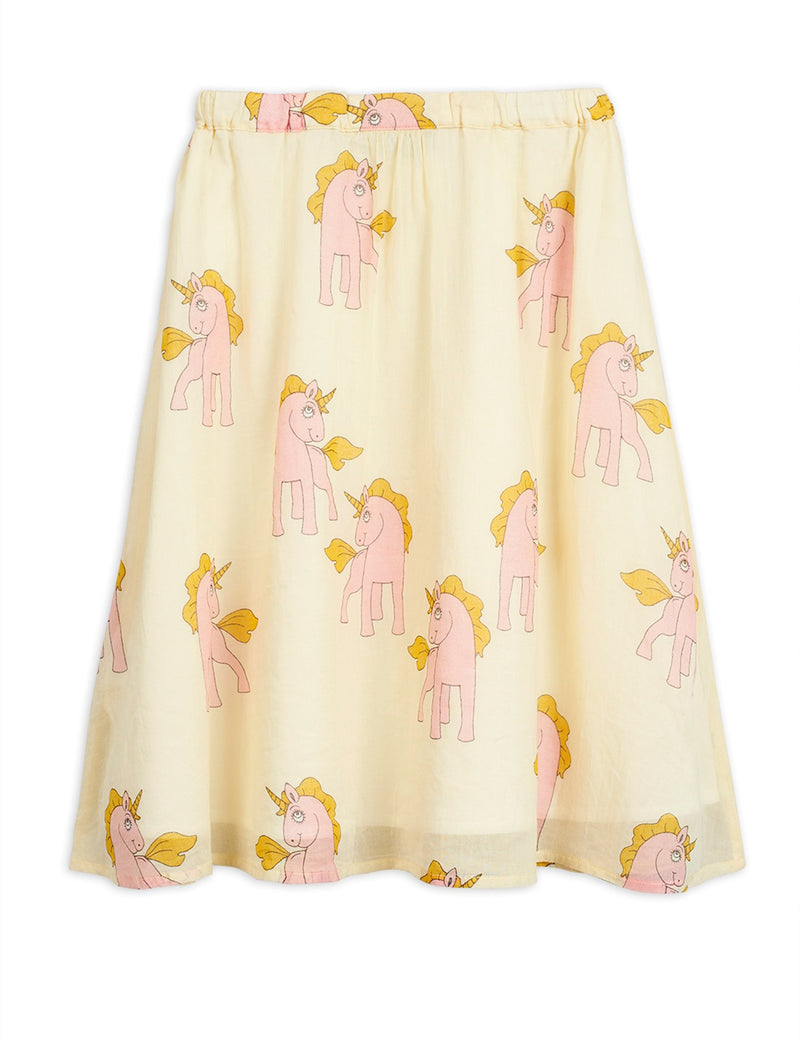 Mini Rodini unicorn woven long hame, yellow