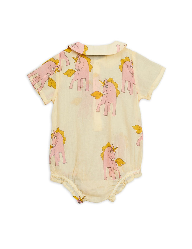 Mini Rodini unicorns woven body, yellow