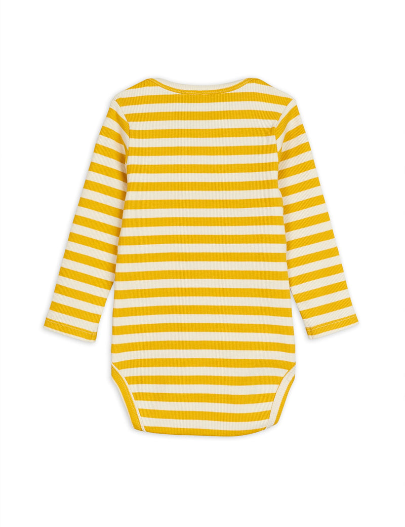 Mini Rodini stripe rib body, yellow