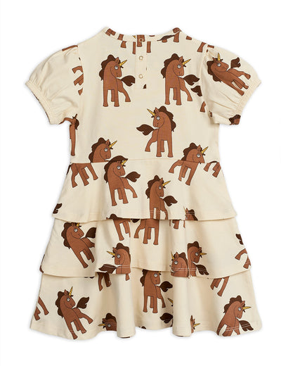 Mini Rodini unicorns mekko, off white