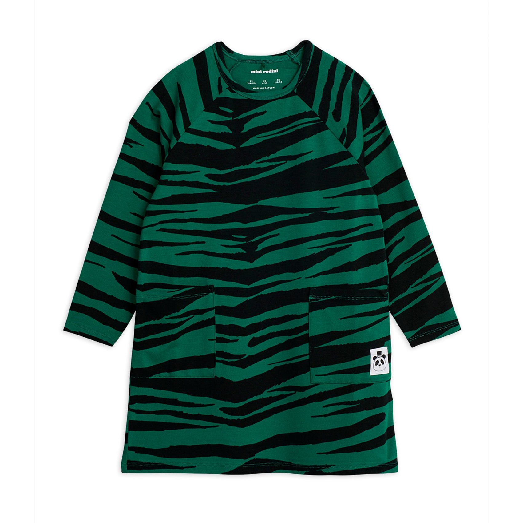 Mini Rodini tiger mekko, green