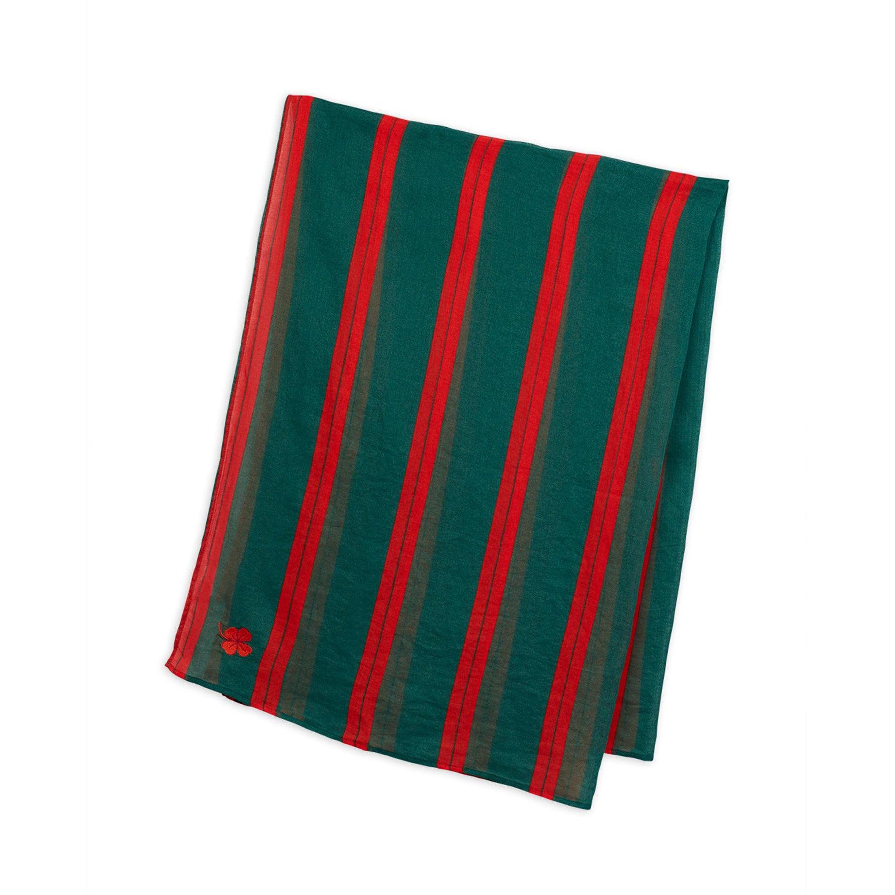 Mini Rodini stripe woven sarong huivi, green