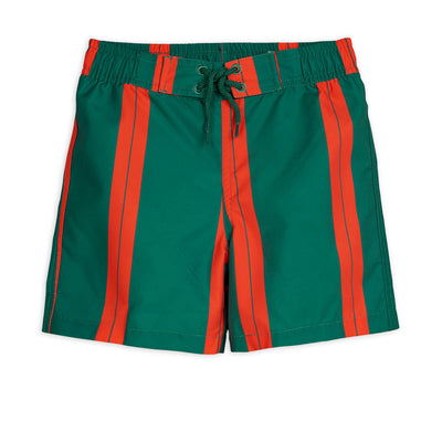 Mini Rodini stripe uimashortsit, green