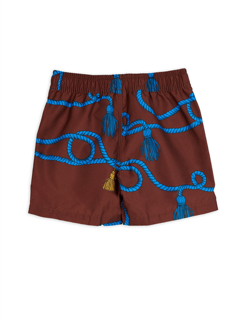 Mini Rodini rope uimashortsit, brown