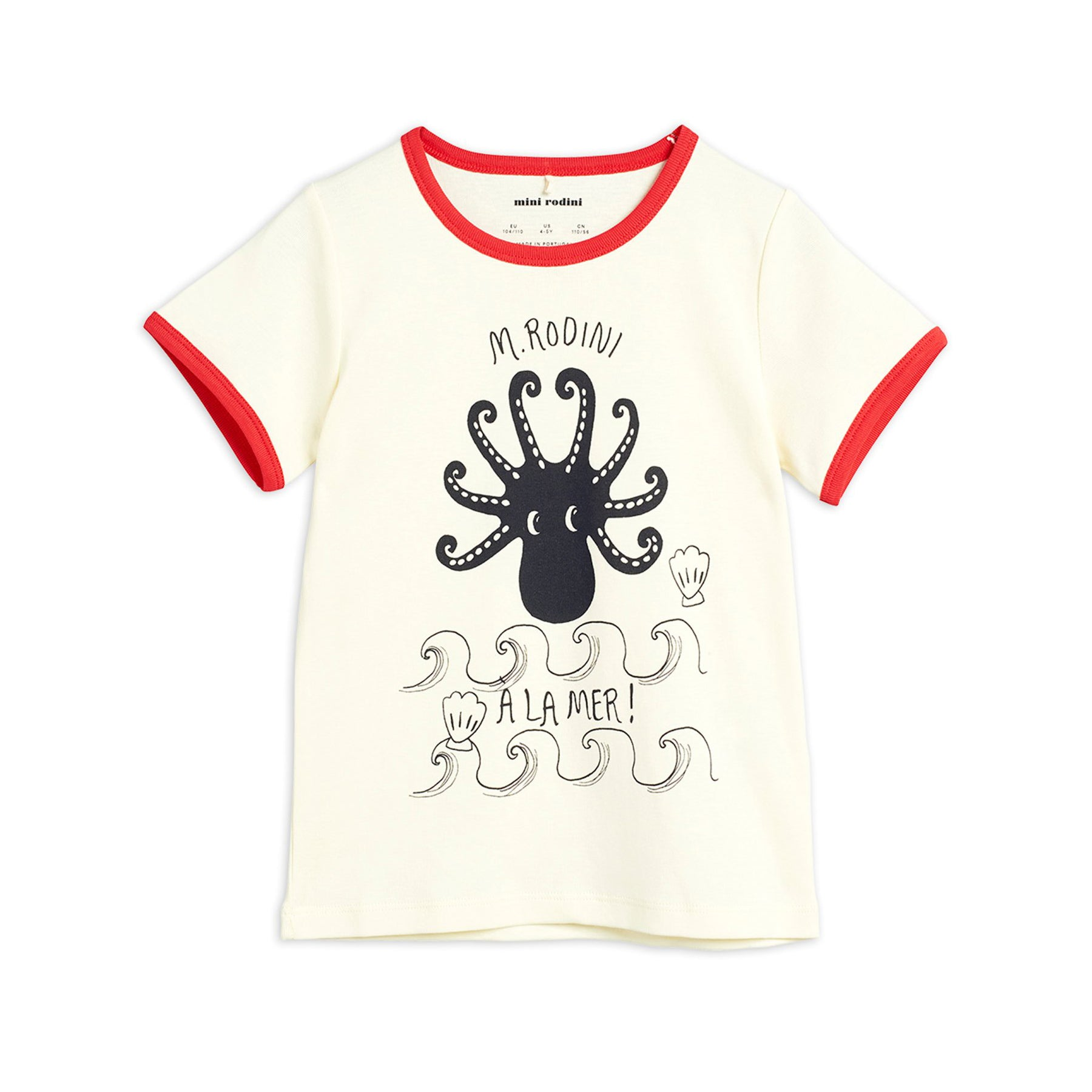 Mini Rodini octopus tee, red