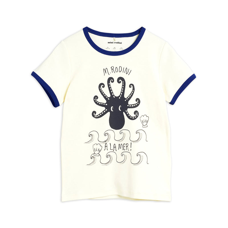 Mini Rodini octopus tee, blue