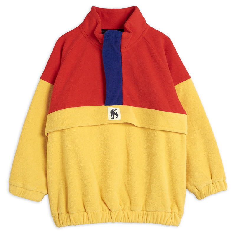 Mini Rodini fleece zip pullover takki, red